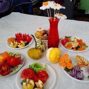 Карвинг из овощей и фруктов. Фото 1