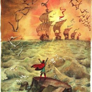 Рисунок к сказке А. С. Пушкина