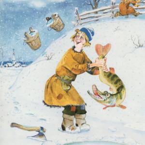 Рисунок к русской народной сказке