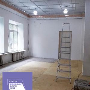 Монтаж потолка (концертный зал)