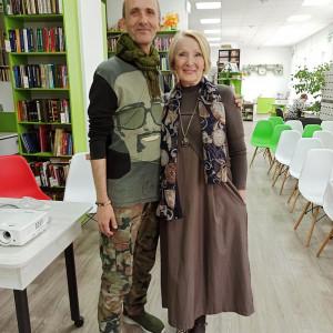 Янис Грантс и Алла Федосеенкова(поэт, прозаик, член СПР, руководитель ЛО «Надежда», Коркино)