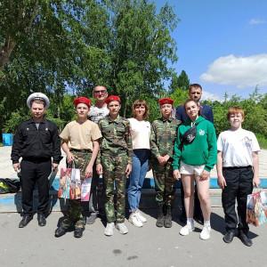 Награждение участников Второго слета Юнармии в Коркинском районе
