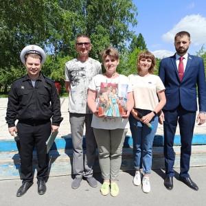 Дмитрий Петухов (ведущий, сотрудник библиотеки), Амир и Светлана Мухаметгалимовы, Елизавета Гладышева и Олег Калашников