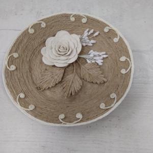 Тарелка  из бичевки