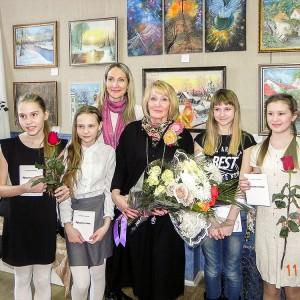 Юные любители поэзии, учащиеся школы 2 г. Коркино